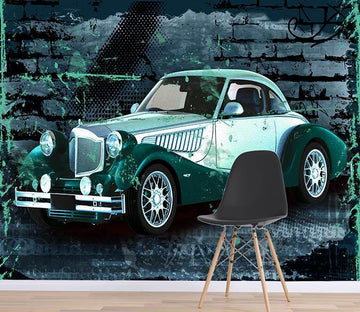 3D Antique Car 045 Wallpaper AJ Wallpaper