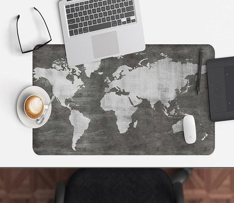 3D Black Map 121 Desk Mat Mat AJ Creativity Home