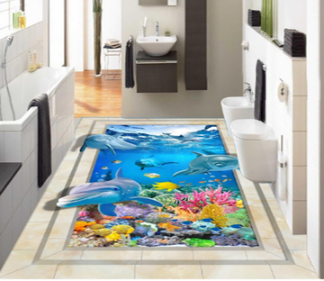 3D Boundless Sea 086 Floor Mural Wallpaper AJ Wallpaper 2