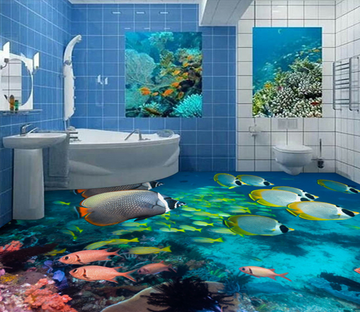 3D Deep Sea Fish 181 Floor Mural Wallpaper AJ Wallpaper 2