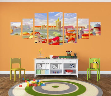 3D Cartoon House 034 Unframed Print Wallpaper Wallpaper AJ Wallpaper