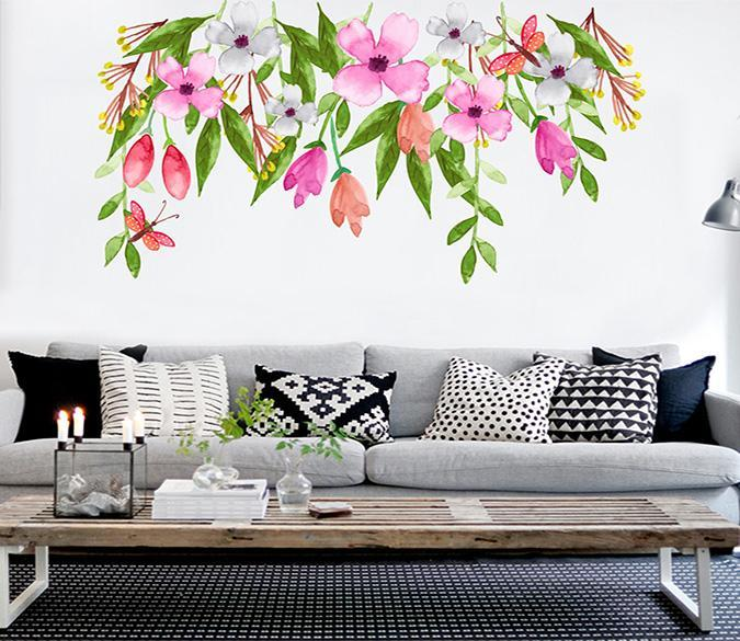 3D Vine Flower Bud 191 Wall Stickers Wallpaper AJ Wallpaper