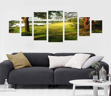 3D Field River 009 Unframed Print Wallpaper Wallpaper AJ Wallpaper