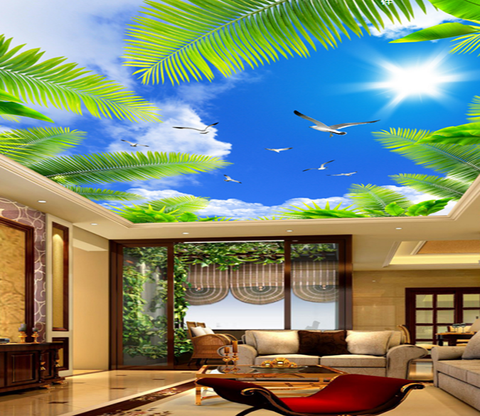 Sky Sunlight Coconut 152 Wallpaper AJ Wallpaper