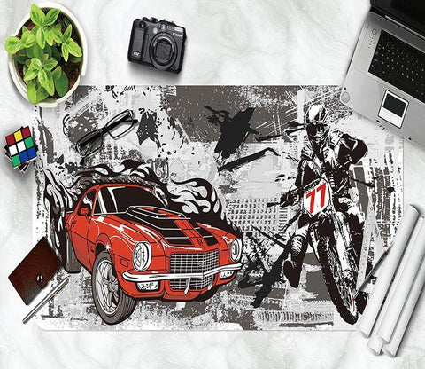 3D Painting Motorcycle 189 Desk Mat Mat AJ Creativity Home