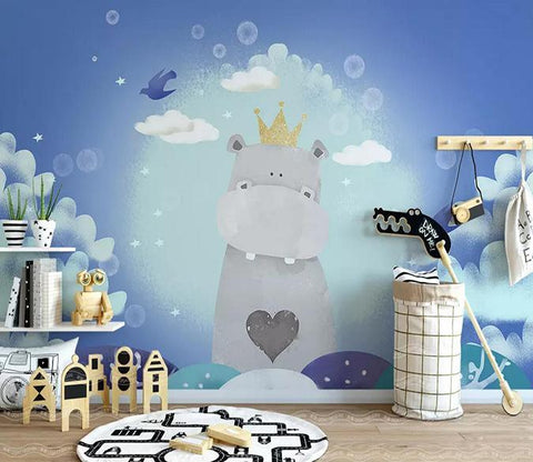 3D Cartoon Hippo 110 Wallpaper AJ Wallpaper