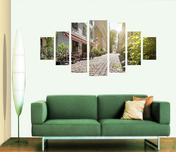 3D Alley Quiet 020 Unframed Print Wallpaper Wallpaper AJ Wallpaper