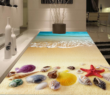 3D Lovely Sea Shell 169 Floor Mural Wallpaper AJ Wallpaper 2