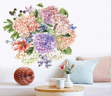 3D Blueberry Butterfly 009 Wall Stickers Wallpaper AJ Wallpaper