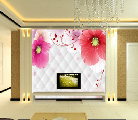 3D Big Flower 042 Wallpaper AJ Wallpaper
