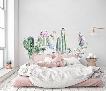 3D Cactus Blossom 100 Wall Stickers Wallpaper AJ Wallpaper