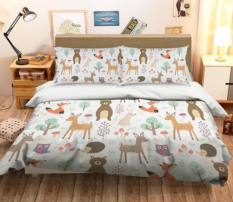 3D Fox Deer 059 Bed Pillowcases Quilt Wallpaper AJ Wallpaper