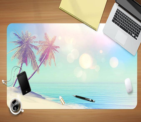 3D Halo Coconut 031 Desk Mat Mat AJ Creativity Home