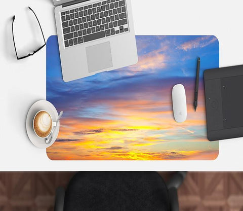 3D Sky Sunset 016 Desk Mat Mat AJ Creativity Home