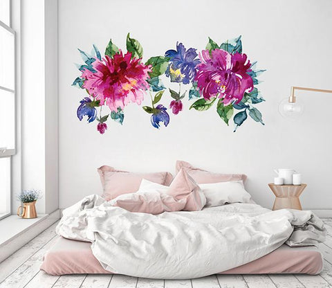 3D Abstract Ink Flower 201 Wall Stickers Wallpaper AJ Wallpaper