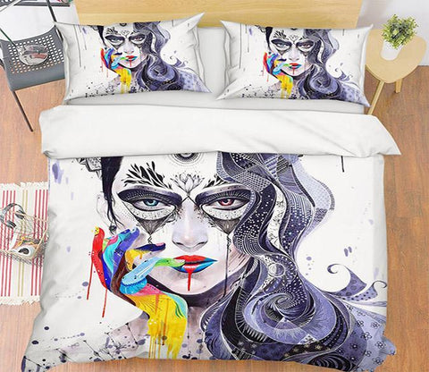 3D Graffiti Girl 106 Bed Pillowcases Quilt Wallpaper AJ Wallpaper