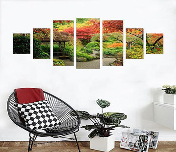 3D Small Pavilion 006 Unframed Print Wallpaper Wallpaper AJ Wallpaper