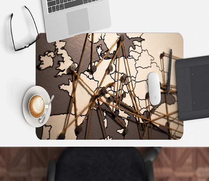 3D Nail Wire 193 Desk Mat Mat AJ Creativity Home