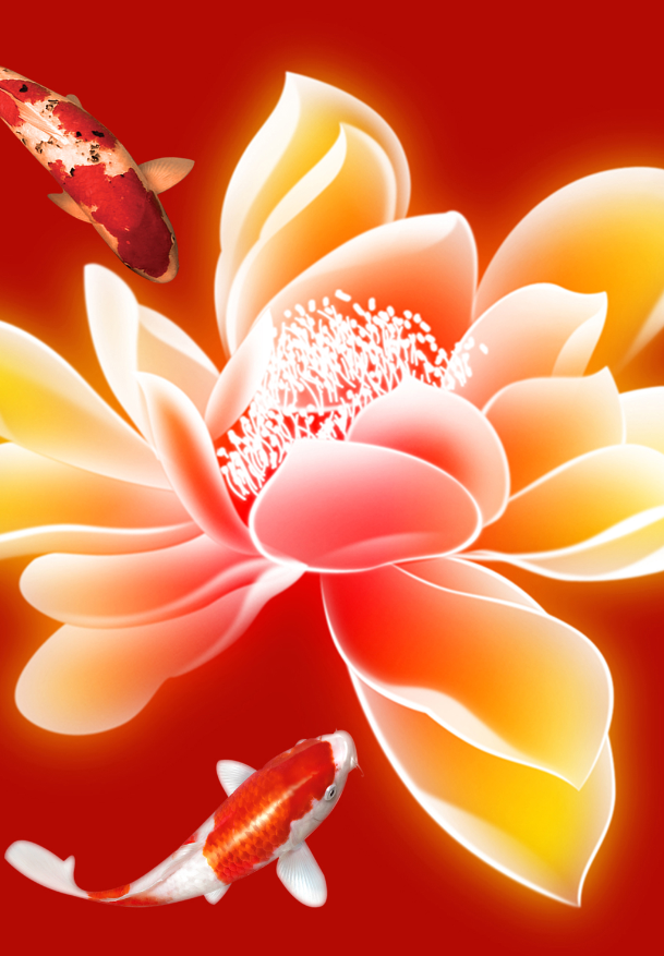 Fishes And Flowers Wallpaper AJ Wallpaper