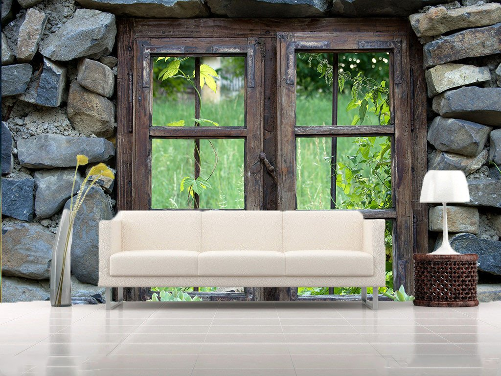 Wooden Window 1 Wallpaper AJ Wallpaper