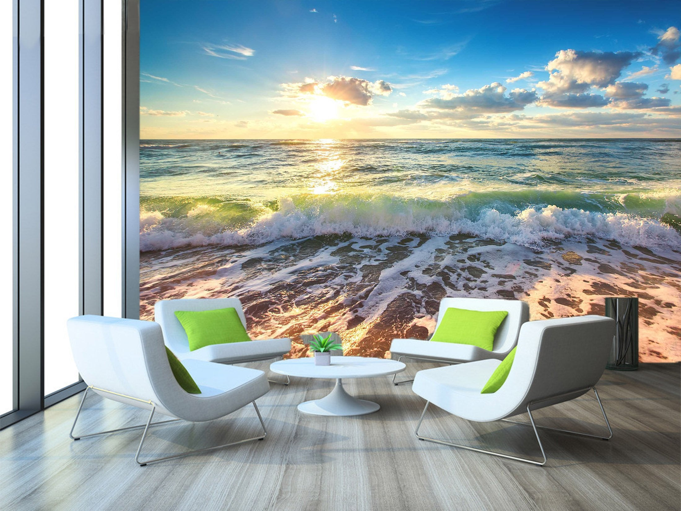 3D Sunshine Waves 622 Wallpaper AJ Wallpaper