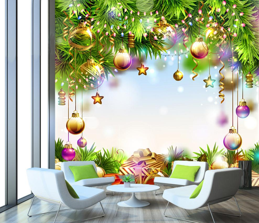 3D Christmas Flower Pines 6 Wallpaper AJ Wallpapers