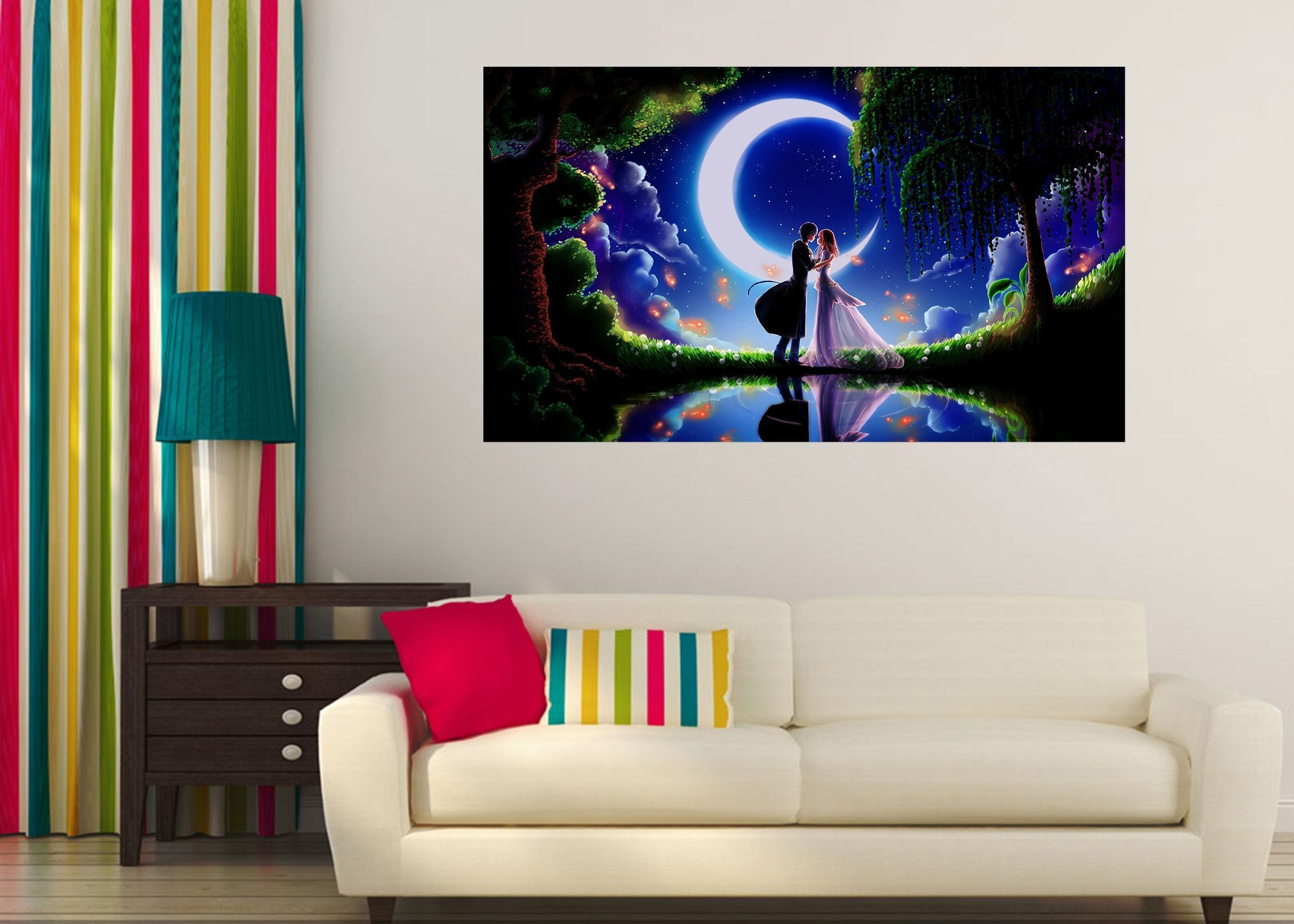 3D Moonlight 419 Anime Wall Stickers Wallpaper AJ Wallpaper 2