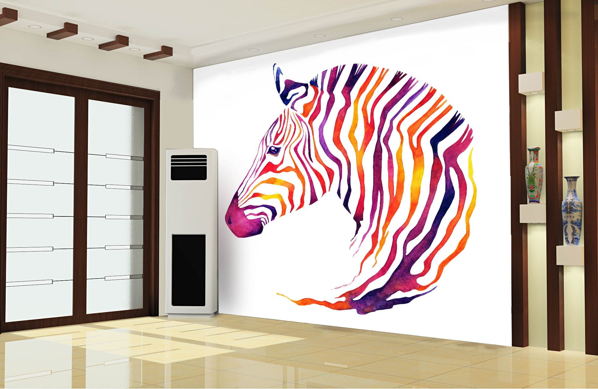 Chromatic Stripe Horse Wallpaper AJ Wallpaper