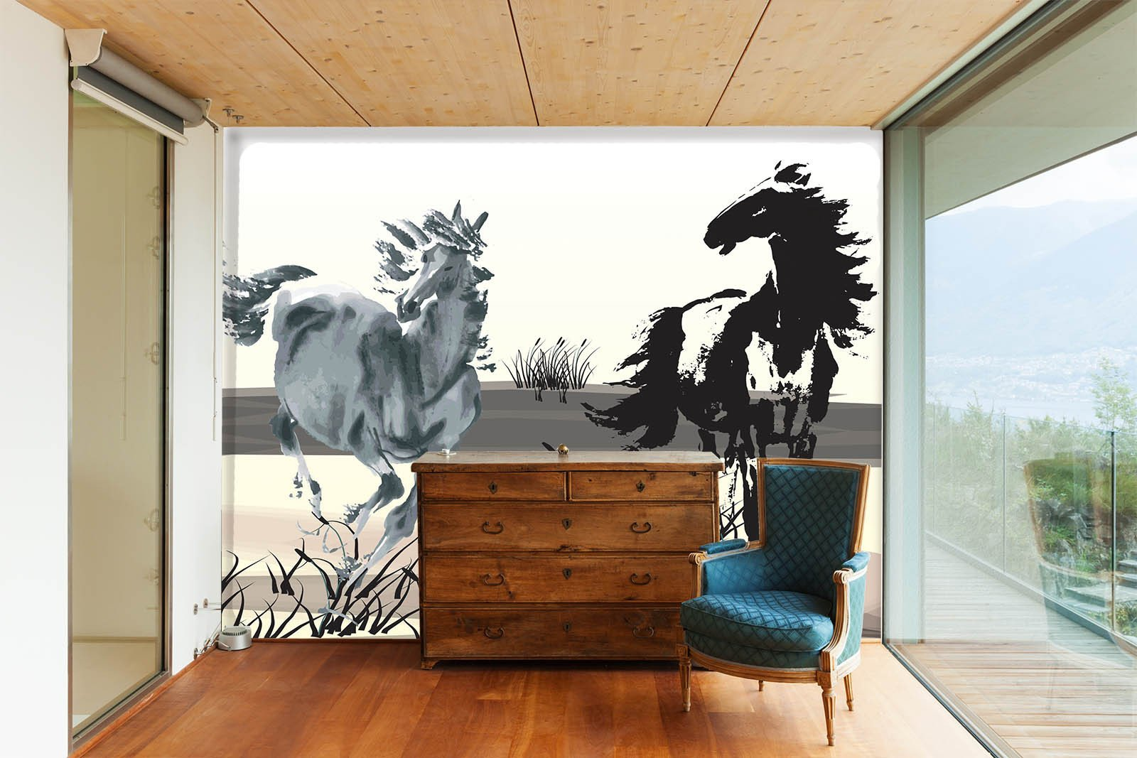 Horses Painting Wallpaper AJ Wallpaper