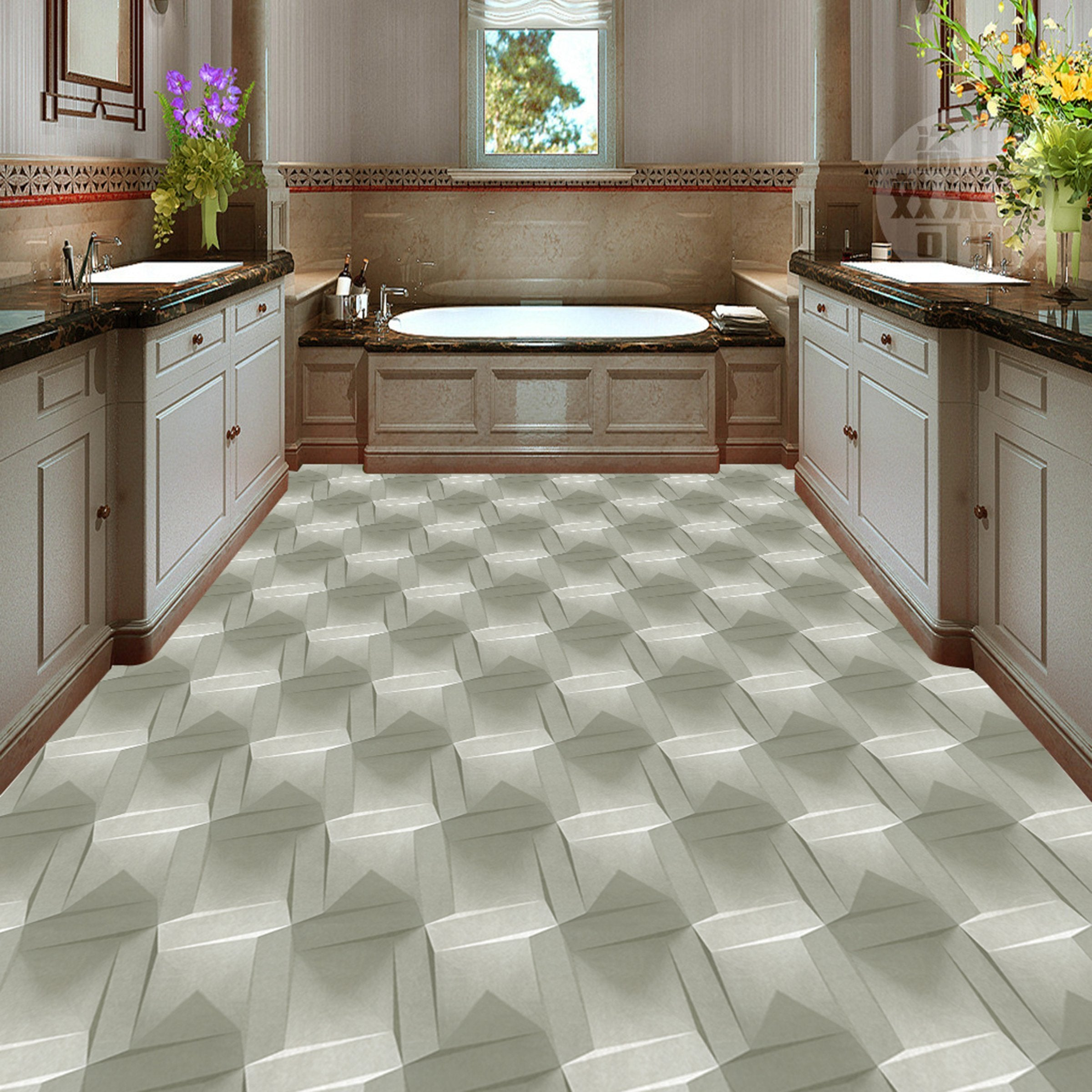 3D Geometric Patterns WG055 Floor Mural