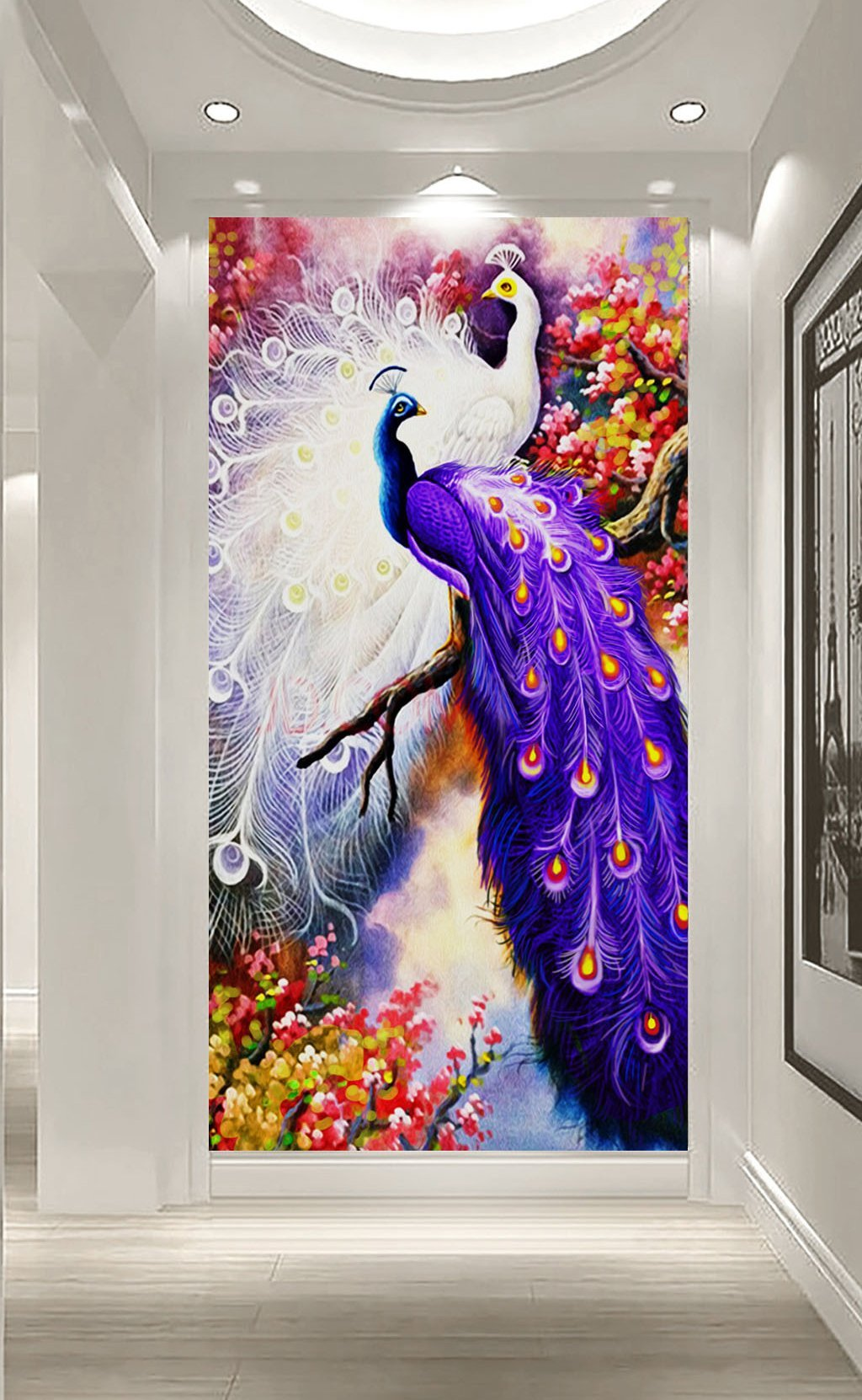 3D Purple Peacock 638 Wall Murals Wallpaper AJ Wallpaper 2