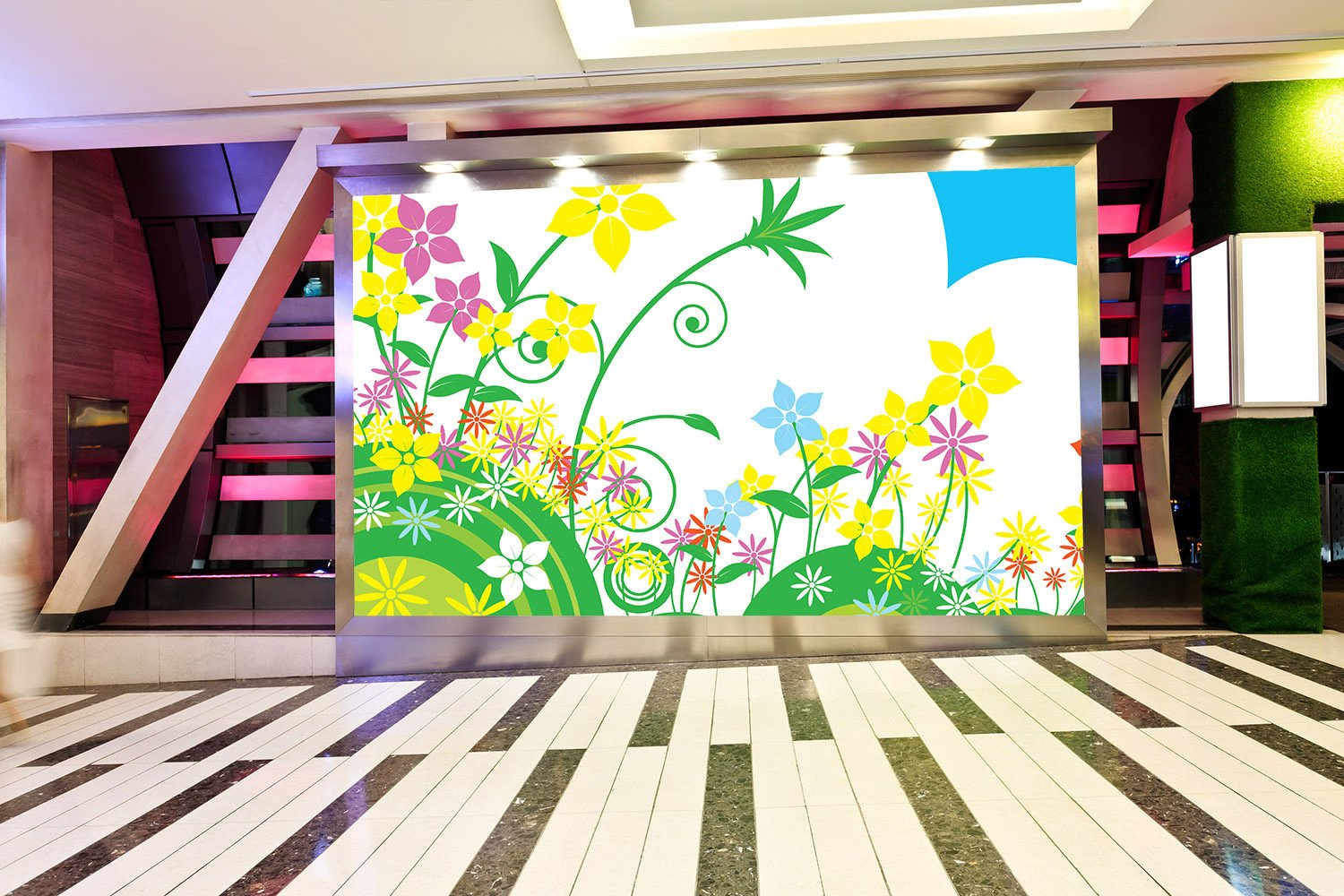 Bright Colorful Flowers Wallpaper AJ Wallpaper