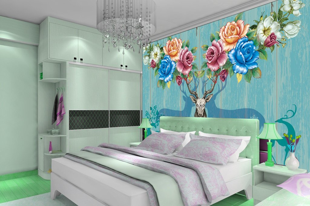 3D Elk 356 Wall Murals Wallpaper AJ Wallpaper 2