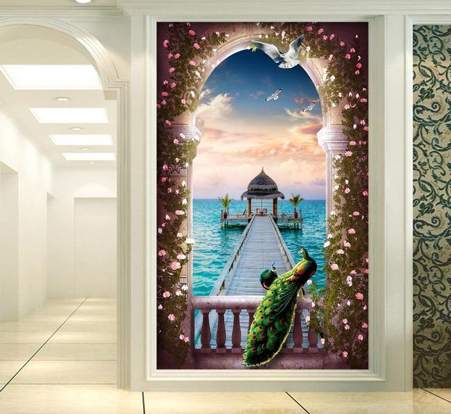 3D Pavilion Lake 644 Wall Murals Wallpaper AJ Wallpaper 2