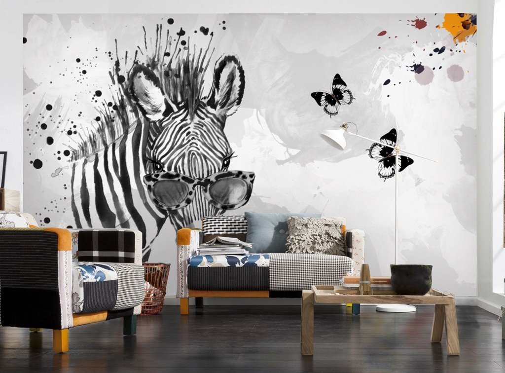 3D Zebra 303 Wall Murals Wallpaper AJ Wallpaper 2