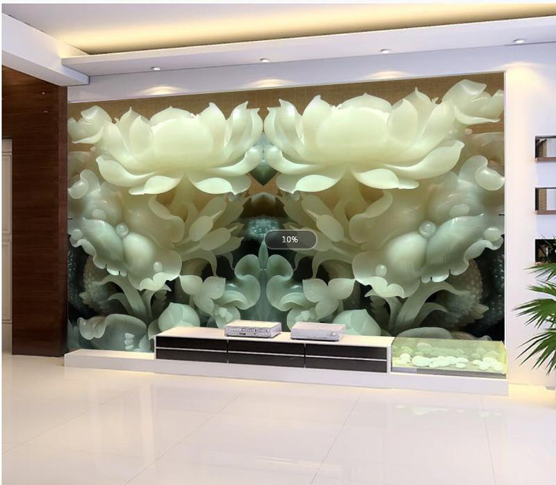3D Flowers white jade Wallpaper AJ Wallpaper 1