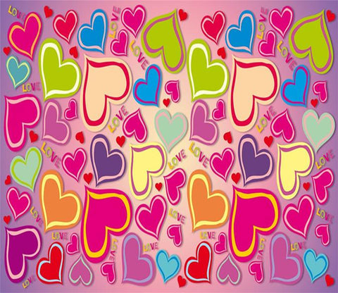 3D Colorful Heart Love 82 Wallpaper AJ Wallpaper