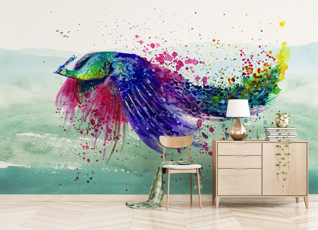 3D Flying Bird 174 Wall Murals Wallpaper AJ Wallpaper 2