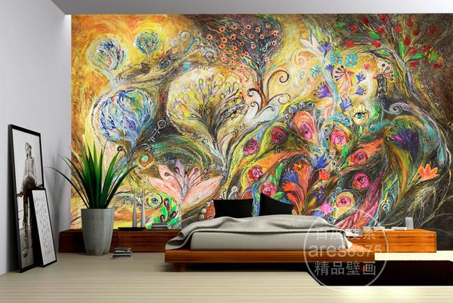 3D Abstract Splash Painting 225 Wall Murals Wallpaper AJ Wallpaper 2