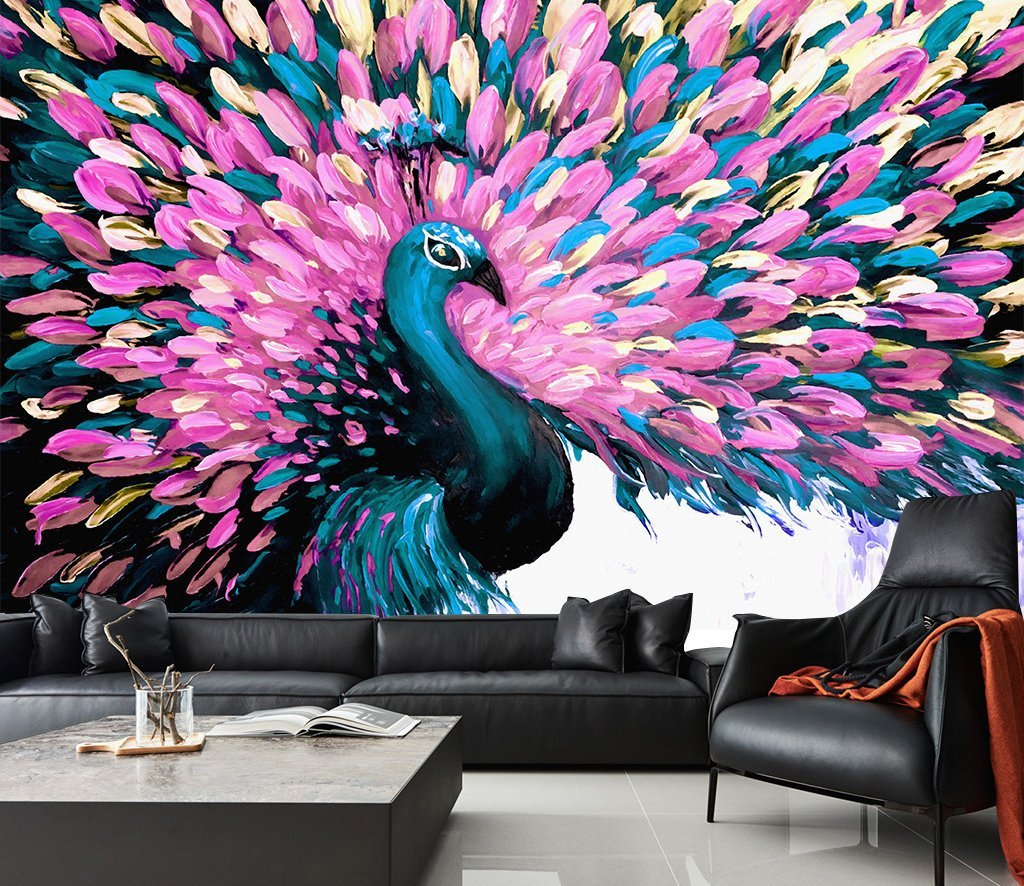 3D Flower Peacock 334 Wall Murals Wallpaper AJ Wallpaper 2