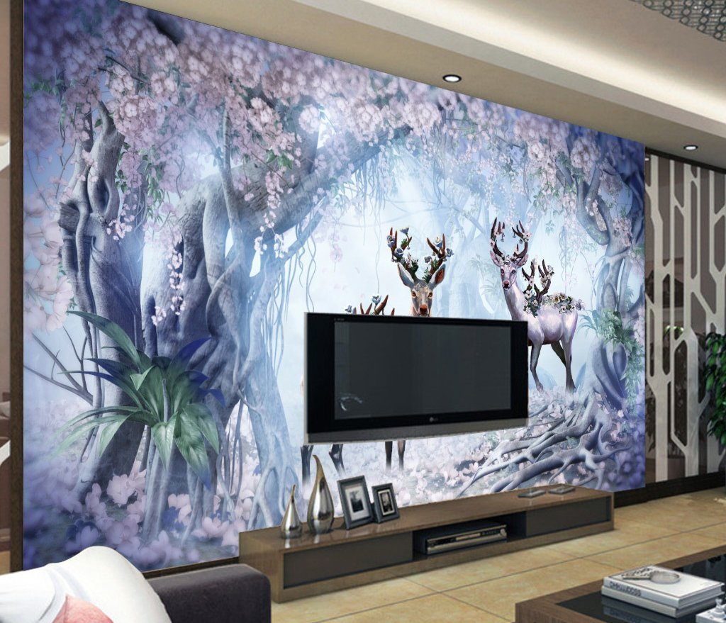 3D Fawn 126 Wall Murals Wallpaper AJ Wallpaper 2