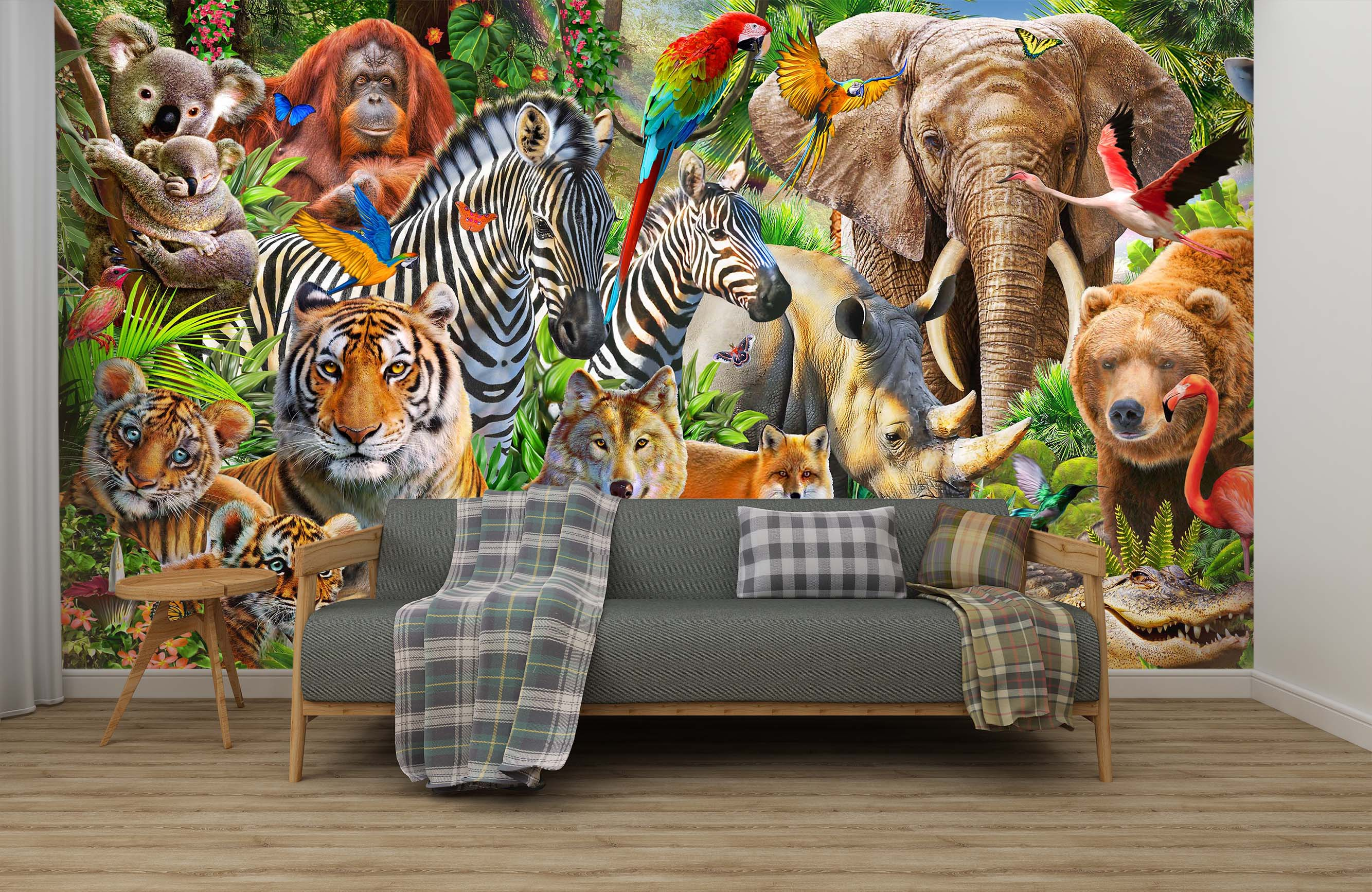 3D Animal World 1424 Adrian Chesterman Wall Mural Wall Murals