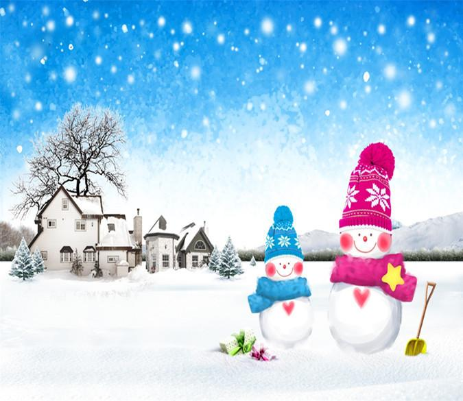 3D Christmas Snowman Big Snowflake 44 Wallpaper AJ Wallpapers