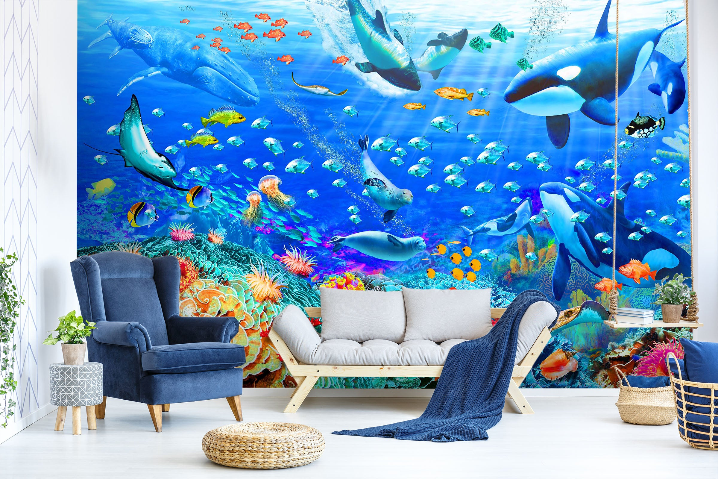 3D The Underwater World 1410 Adrian Chesterman Wall Mural Wall Murals