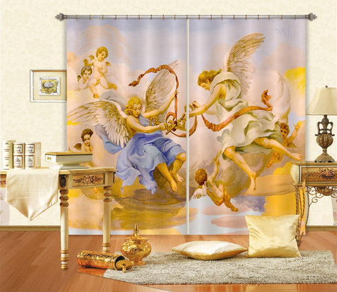3D Key Ribbon 055 Curtains Drapes Curtains AJ Creativity Home