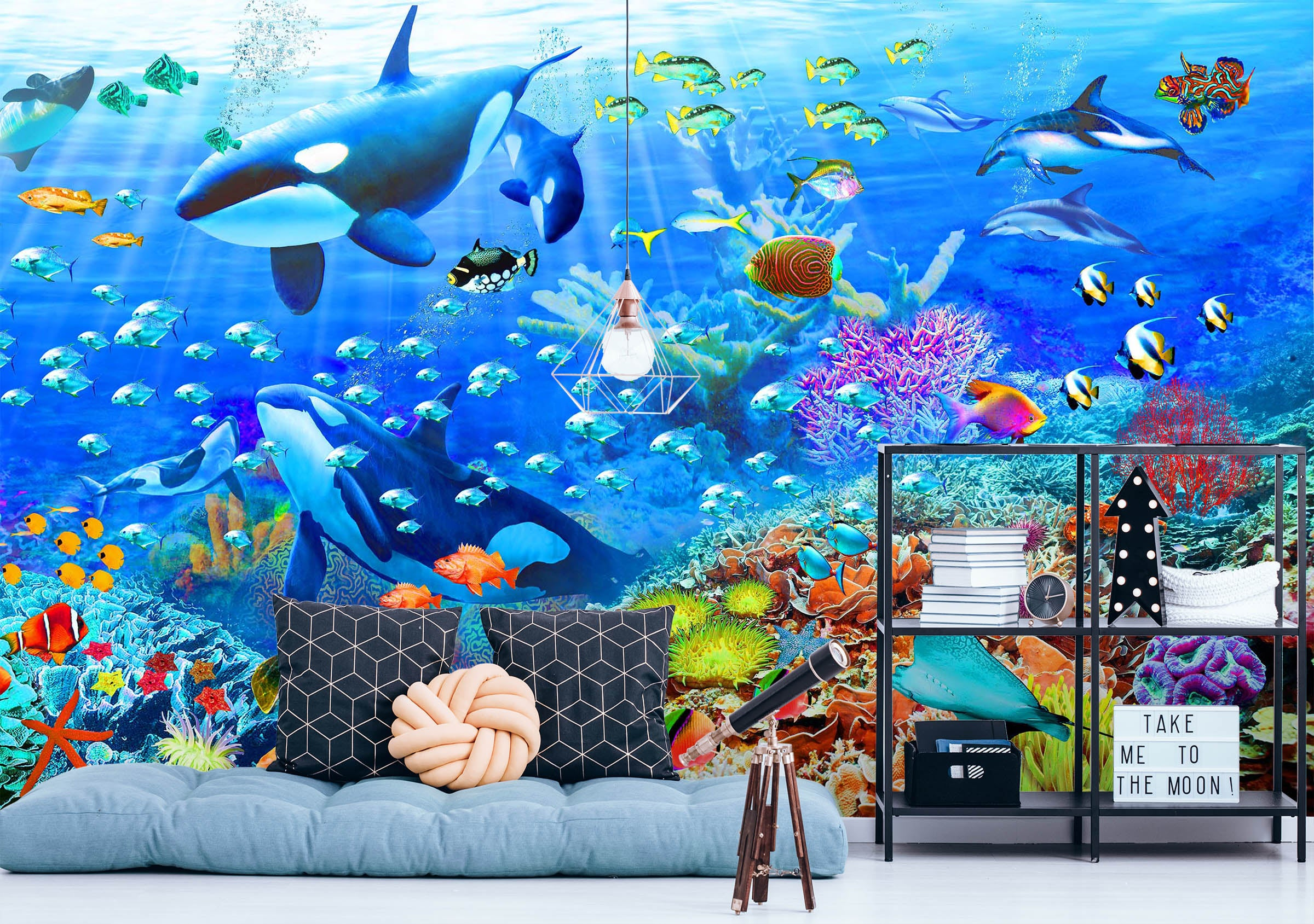 3D Have Fun Swimming 1411 Adrian Chesterman Wall Mural Wall Murals