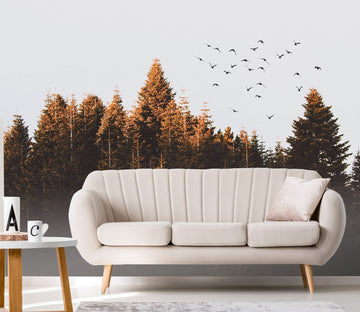 3D Woods Flying Birds 674 Wallpaper AJ Wallpaper