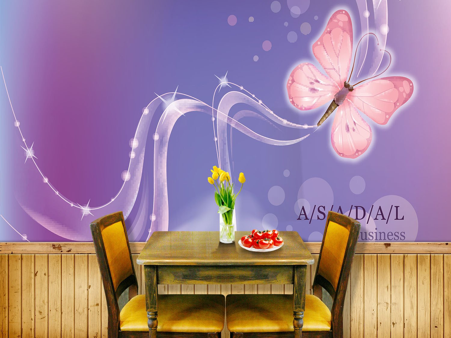 Romantic Butterfly Wallpaper AJ Wallpaper