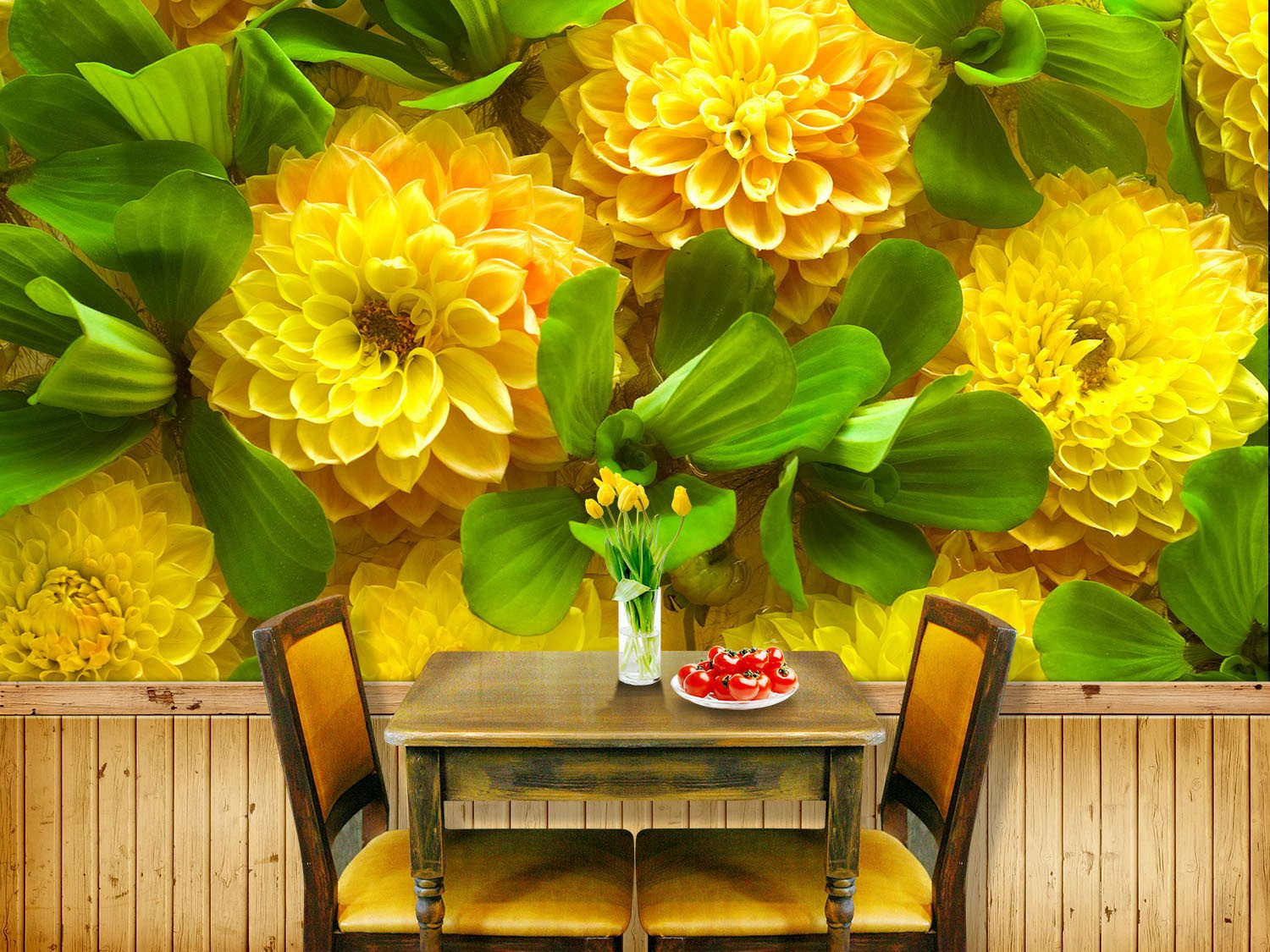 Yellow Blossoms Wallpaper AJ Wallpaper