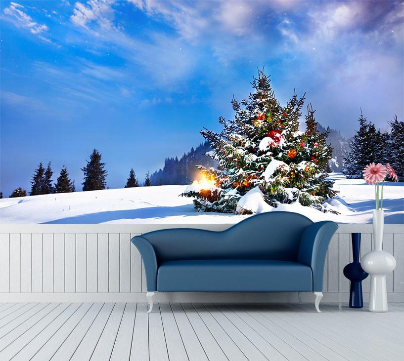 3D Christmas Tree 078 Wallpaper AJ Wallpaper